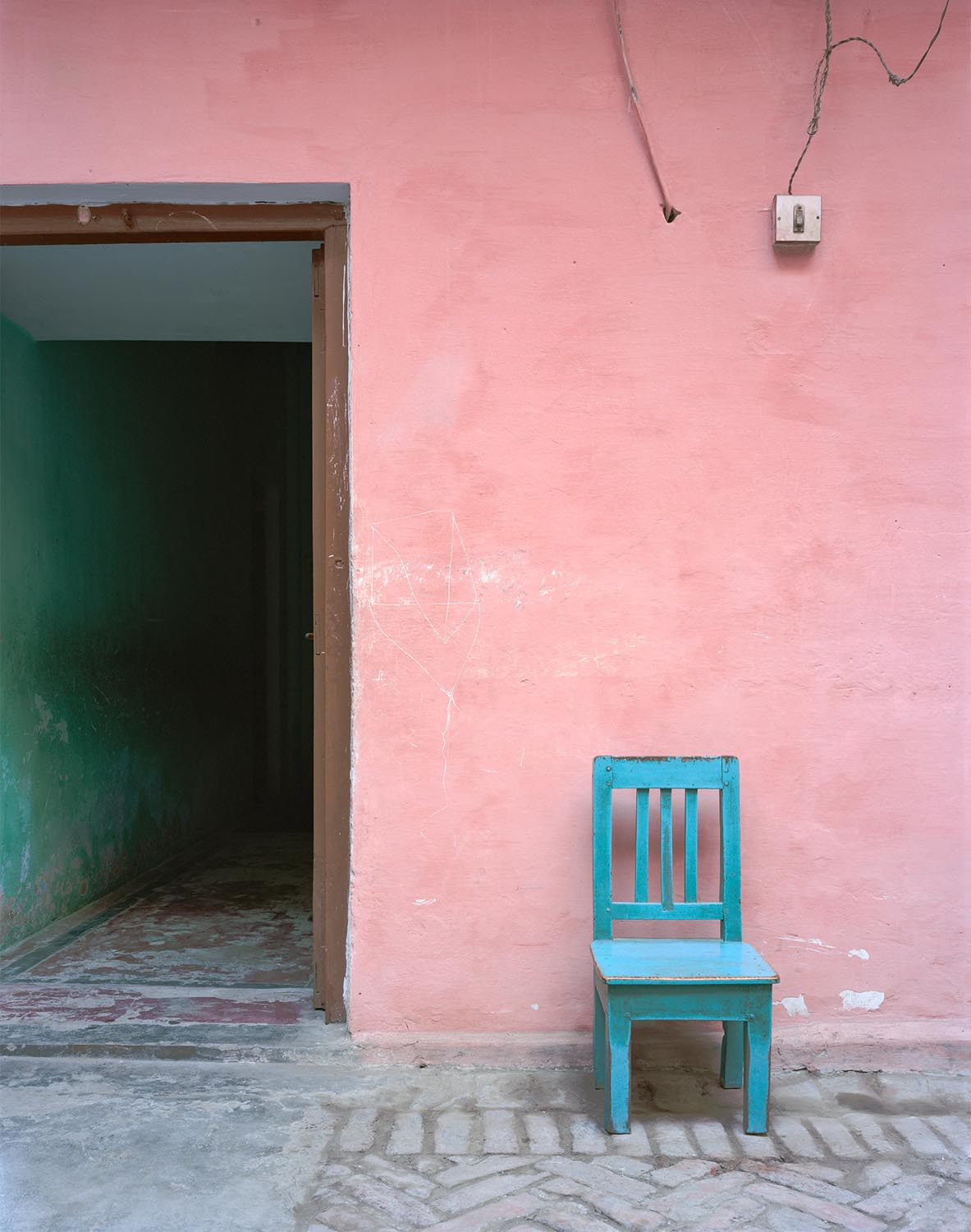 a-pink-dress-untitled-blue-chair-2012