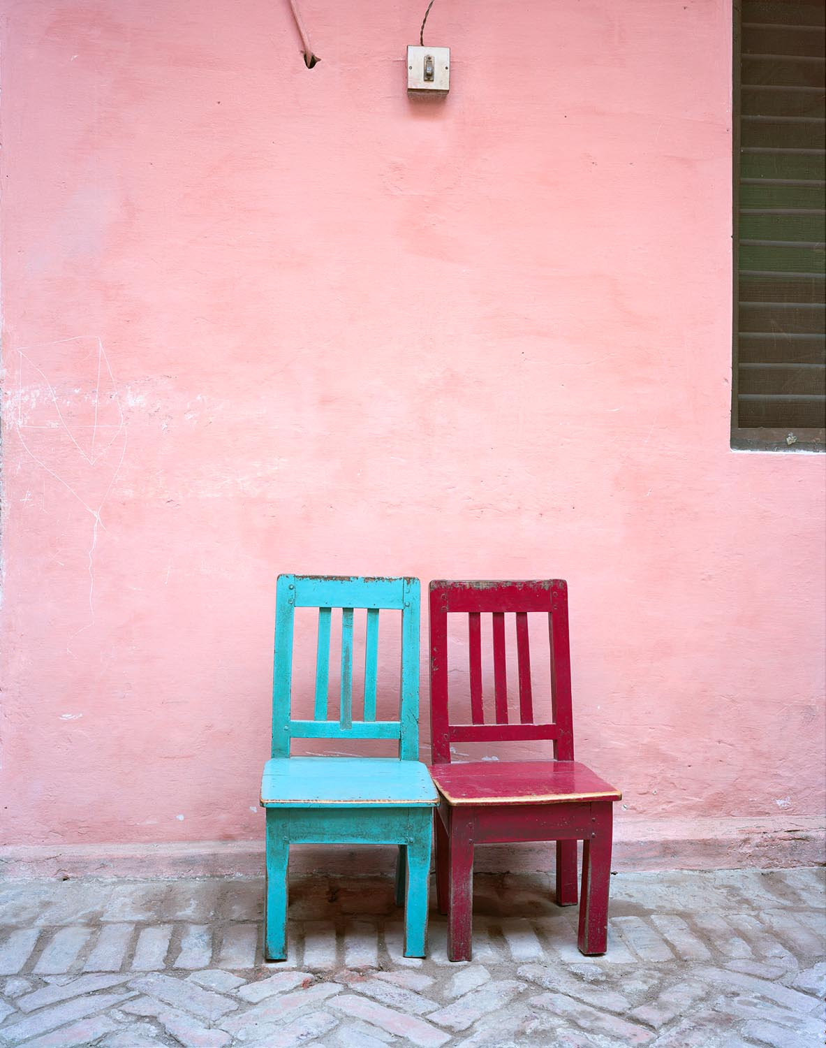 a-pink-dress-untitled-blue-red-chairs-2012