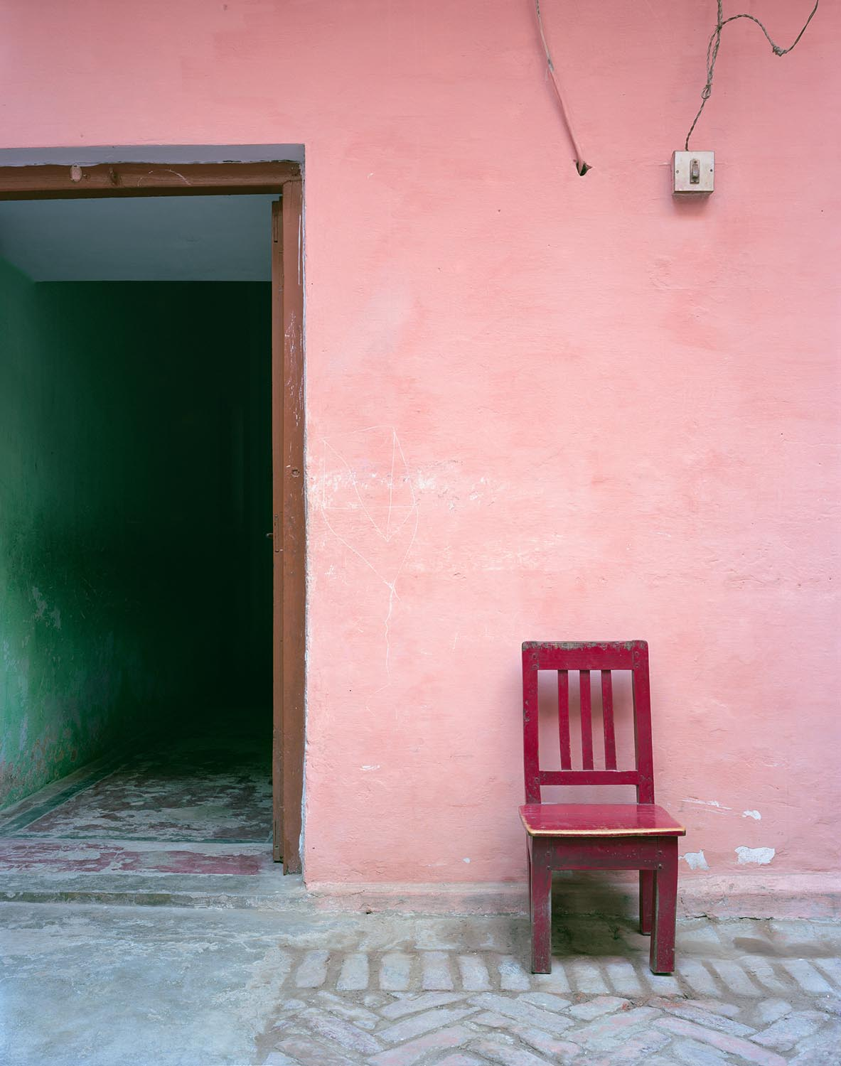 a-pink-dress-untitled-red-chair-2012
